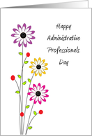 Administrative Professionals Day Greeting Card-Colorful Flowers card