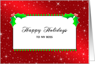 Boss Happy Holidays, Holiday Design card
