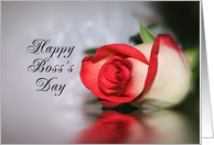 For Boss-Boss's Day Greeting Card with Rose and Reflection card