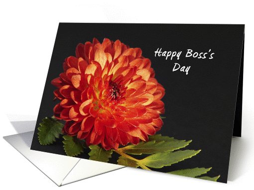 For Boss Boss's Day Card with Dahlia card (690865)