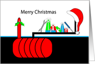 Business Christmas Greeting Card From Fuel Tank-UST-AST-Company card