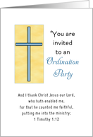 Ordination Party Invitation with Cross card
