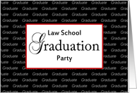 Law School Graduation Party Invitation-Graduate Text on Background card