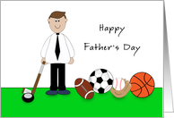 Happy Father's Day Greeting Card-Sports Related card