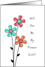 Will You Be My Flower Girl - Flowers card