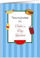 Father's Day Luncheon Invitation Card
