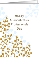 Administrative Professionals Day Greeting Card-Retro Berry Design card