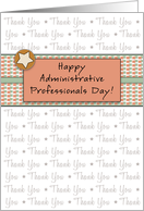 Administrative Professionals Day Greeting Card-Retro Star Design card