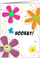 Last Chemotherapy Card-Encouragement-Butterfly-Flowers-Hooray card