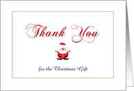 Christmas Thank You for the Gift Greeting Card-Santa-Customizable Text card