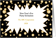 New Year's Eve Party Invitation-Customizable Text card