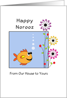 Norooz Persian New Year Card-Fish-Flowers-From Our House to Yours card