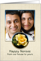Happy Norooz Persian New Year Photo Card Our House to Yours-Rose card