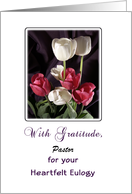 Eulogy Thank You Card for Pastor-Clergy-Customizable Text-Tulips card