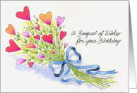A Bouquet of Wishes card
