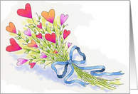 A Bouquet of Love Valentine's Day Heart Flowers card