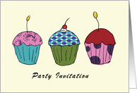 Birthday Cakes Invitation card