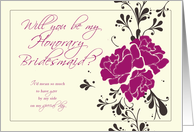 Will you be my Honorary Bridesmaid? card