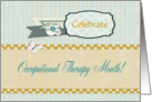 Celebrate Occupational Therapy Month, Flower and Butterfly card