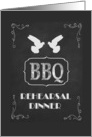 BBQ Themed Rehearsal Dinner Invitation, Chalkboard Look card