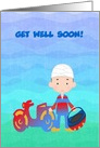 Feel Better, Motorcycle Accident, Custom Text card