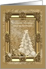 New Home, Golden Christmas Greetings, Custom Text card