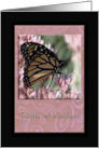 Happy Birthday in Danish, Beautiful Monarch Butterfly card
