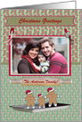 Gingerbread Family in a Cookie Pan Photo Card, Custom Text card