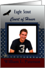 Eagle Scout Ceremony Invitation Photo Card, Eagle Flying card