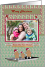 Gingerbread Family in a Pan Photo Card, New Home, Custom Text card