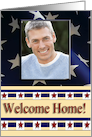 Military Welcome Home Photo Card, Eagle and Stars card
