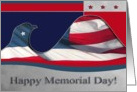 Happy Memorial Day, Flag Eagle card