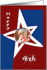 Fourth of July Patriotic Star Photo Card
