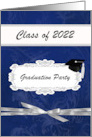 Graduation Party, Time to Celebrate, Cap on 2021, Blue & Silver card