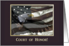 Flying Eagle with Flag, Eagle Scout Court of Honor card