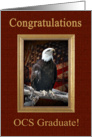 Officer Candidate School Graduation OCS Congratulations, to Son, Eagle card