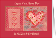 Hearts of Roses, Valentine's Day to My Niece & Her Fiance card