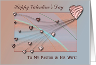 Valentine for Pastor and His Wife, Peach Hearts card