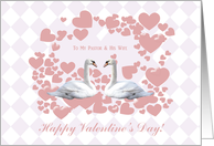 Valentine for Pastor and His Wife, Swains & Hearts card