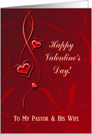 Valentine for Pastor and His Wife, Ruby Red Heart Design card
