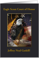 Eagle Scout Court of Honor, Custom Text, Eagle with Tassel, 2 card
