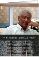 Railroad Retirement Party Invitations 40th, Train Track, Photo Card