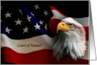 Eagle with American Flag, Eagle Scout Award card