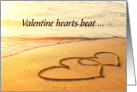 Valentine, Two Hearts in the Sand card