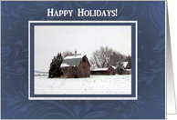 Snow in the Country, Happy Holidays! card
