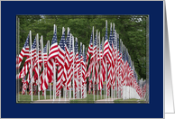 American Flags, Veterans Day card