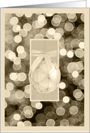 Lights and Ornament card