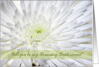 Chrysanthemum, Will you be my Honorary Bridesmaid? card