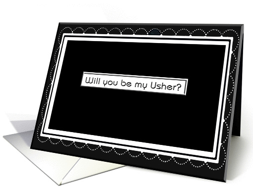 Will you be my Usher?/Dotted Frame card (390341)