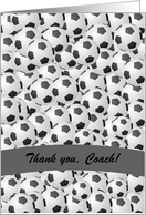 Thank you to Soccer Coach, Custom Text card